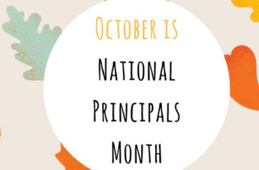 October is National Principals Month graphic