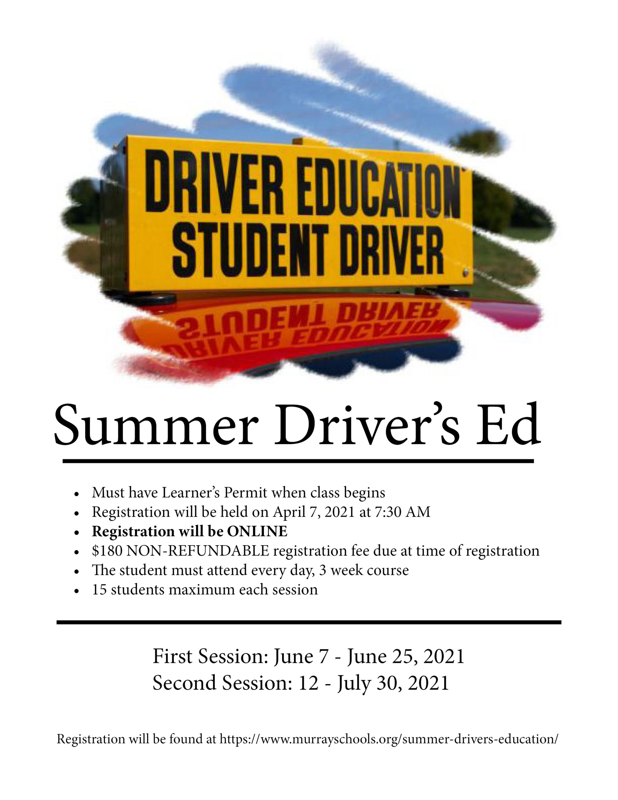 Summer Driver's Ed 2021